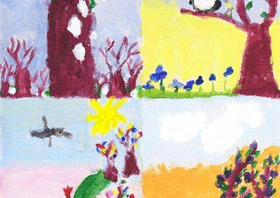 Andók Veronika Tavasz van illusztráció 1. osztály